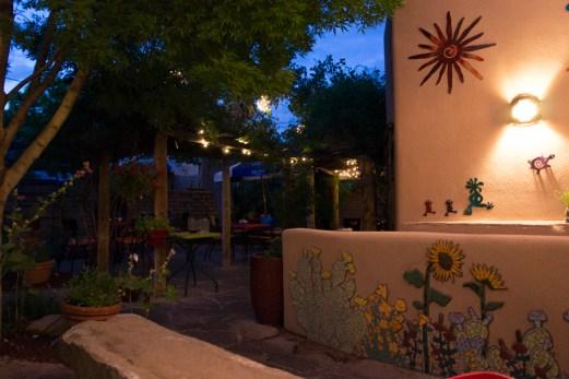Old Town Albuquerque Nouveau Mexique cuisine mexicaine cour