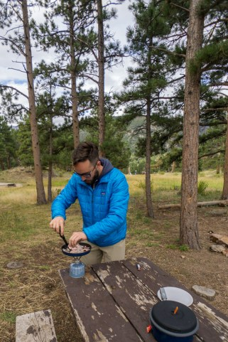 Rocky Mountain National Park - Moraine Campground - bacon for breakfast
