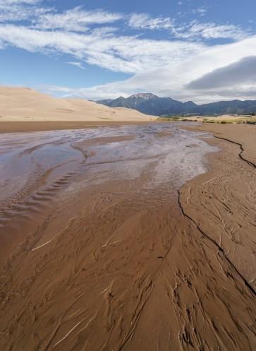 Great Sand Dunes Colorado - la crique