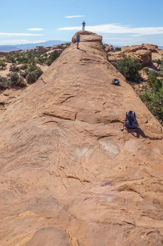 arches-national-park chemin escarpé