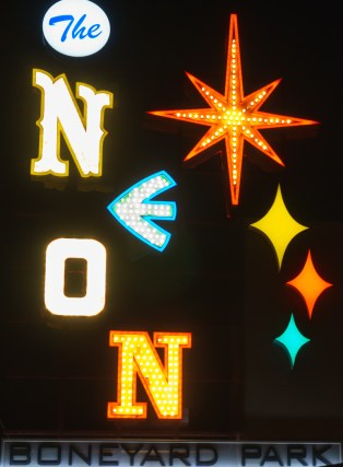 las vegas - neon museum by night
