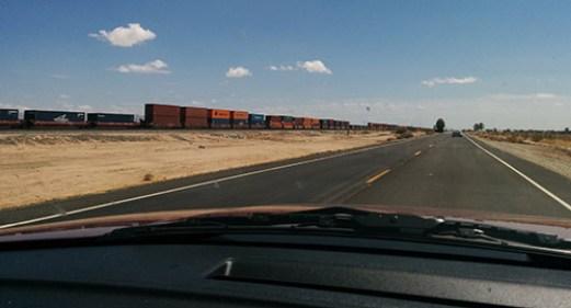 La route road trip Californie les trains