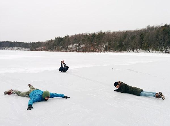 Walden Pond étang gelé 1