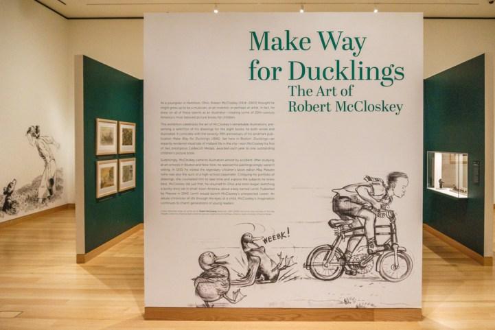Boston MFA Make Way for ducklings