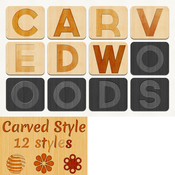 Creativemarket 12 Carved Wood Styles 1619