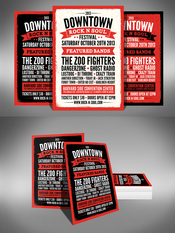 Creativemarket Music Festival Flyer 2 Sizes 8542
