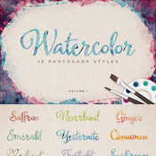 Creativemarket Watercolor Photoshop Styles Volume 1 154031 icon
