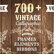 Creativemarket 700Plus Vintage Bundle All 5 Volumes 41176 icon