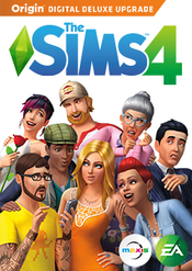 The Sims 4 Deluxe flat box icon