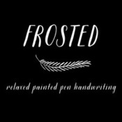 Creativemarket frosted font 317382 icon