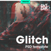Glitch photoshop photo template 12606269 icon
