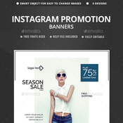 Sales instagram banners 6 templates 12901326 icon
