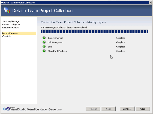 1b Detach Project Collection