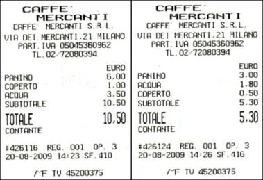 Doppio prezzo straniero-italiano al Caffè Mercanti di Milano