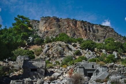 Pinara: Wie die Gräber vor 2000 Jahren dort oben hinkamen weis ich bis heute nicht