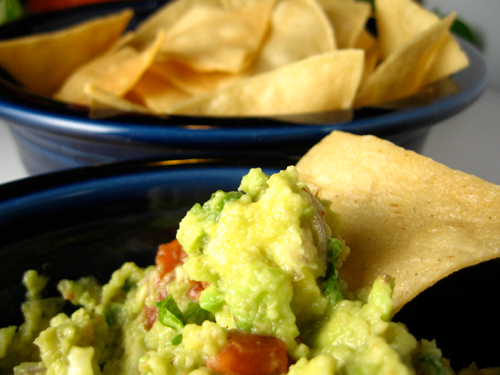 That chip dove in on its own! The Guac was that good.