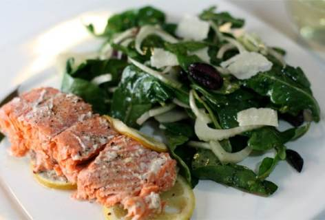 Bay Leaf Wrapped Salmon