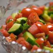 Framed: Watermelon, Tomato, Basil Salad