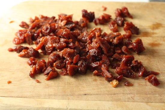 Bacon crumbled.