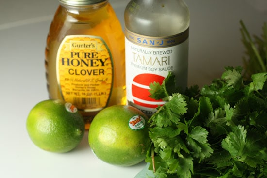 Simple ingredients for a sauce.