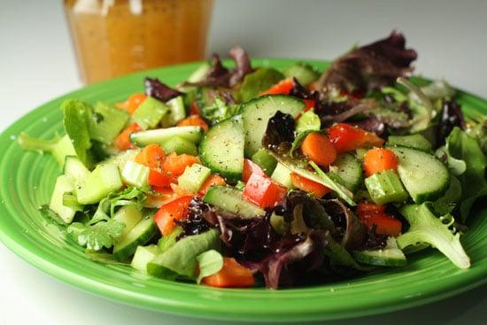 Plated salad.