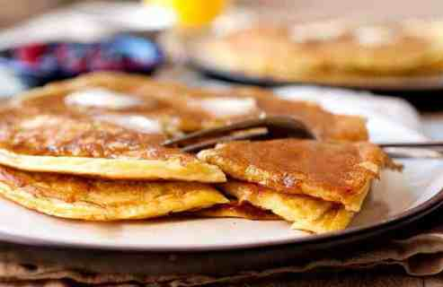 Greek Yogurt Pancakes: These are not your out-of-the-box pancakes, but they are just as easy to make! Stir together a few simple ingredients and you're minutes away from some of the most delicious and unique pancakes you'll ever make. They might look plain, but they are addictive with a perfect balance of tangy and sweet. Try them! | macheesmo.com