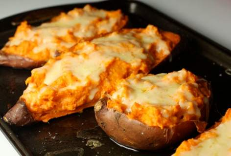 Double Baked Sweet Potatoes