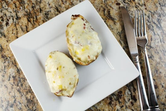 stuffed breakfast potato