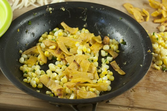 corn and tortilla