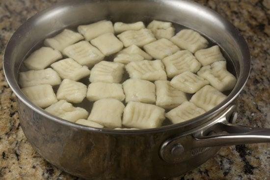 cooking Mashed Potato Gnocchi