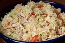 Greek Orzo Salad recipe from Macheesmo