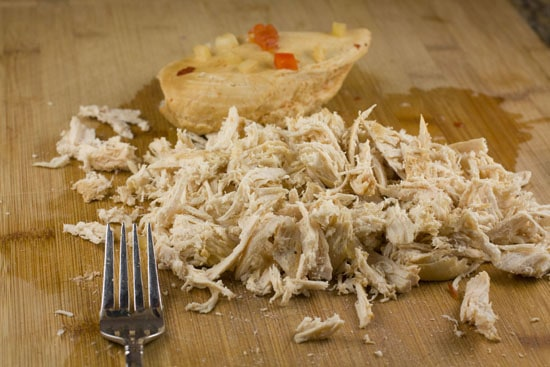 shredded chicken for Crockpot Chicken Tortilla Soup