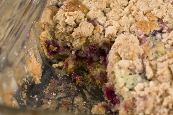 Blackberry Big Crumb Coffee Cake recipe