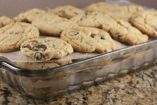 freeze for Chocolate Chip Ice Cream Sandwiches