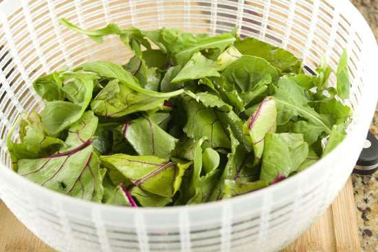 greens for Beet and Orange Salad