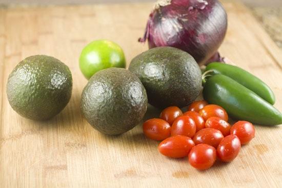Guacamole Ingredients - Grilled Guacamole