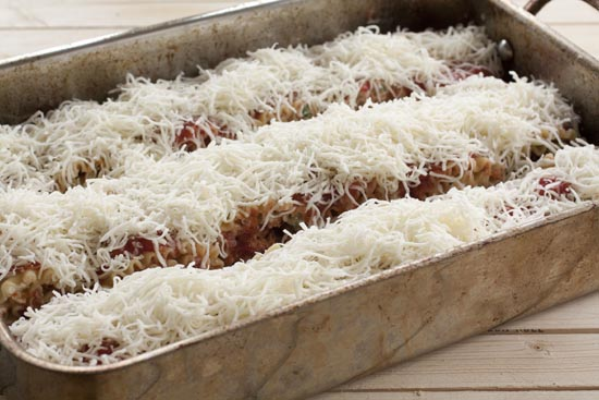 topped Lasagna Rolls