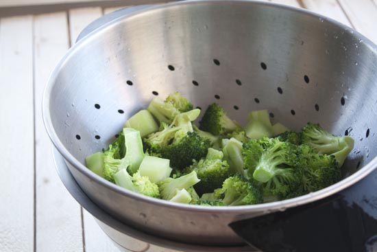 blanched - Broccoli Pasta Toss
