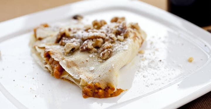 Pumpkin Pie Crepes