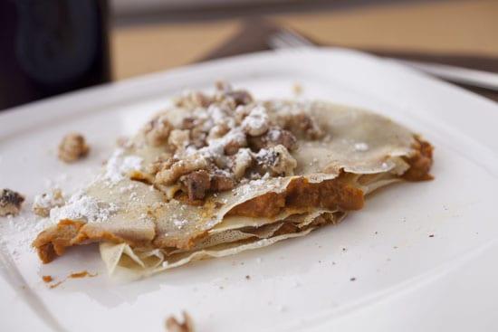 Pumpkin Pie Crepes recipe from Macheesmo