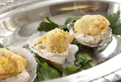 Fried Oysters with Goat Cheese