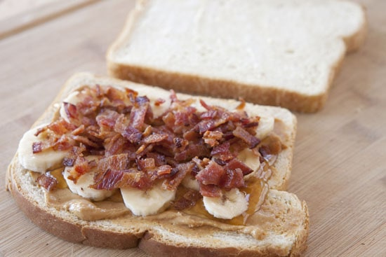 Pack on the ingredients. Peanut Butter Bacon Sandwiches