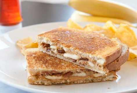 Peanut Butter, Banana, and Bacon Sandwich