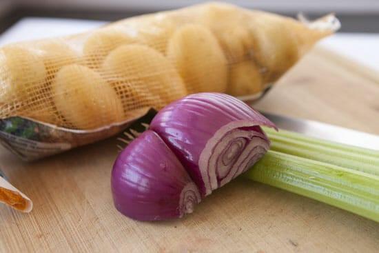 veg for Honey Mustard Potato Salad
