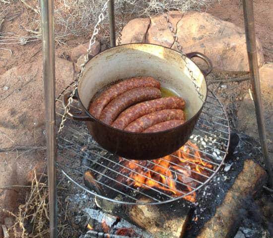 sausage for Campfire Jambalaya