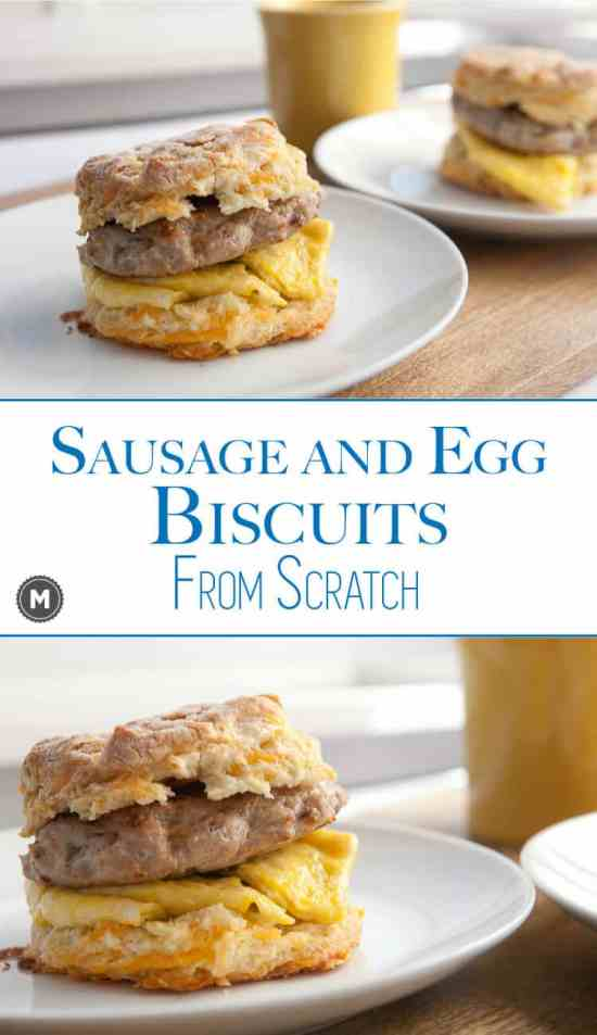 Sausage Egg Biscuit - Sometimes it's important to slow down and these made-from-scratch sausage and egg sandwiches will make sure you enjoy breakfast. Plus, learn my tip for excellent homemade breakfast sausage!