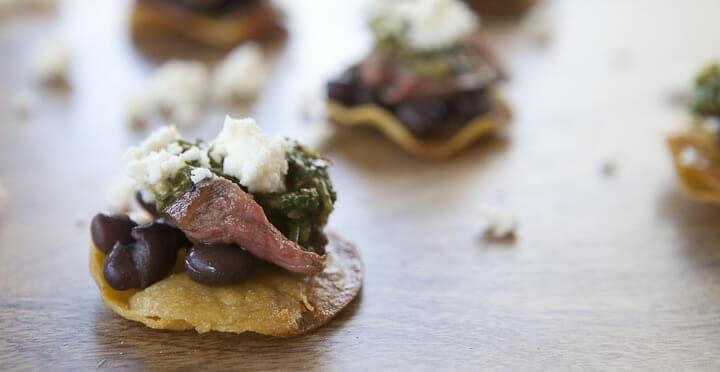 Steak Tostada Bites