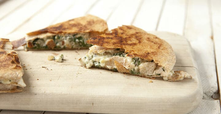 Greek Spinach Quesadilla