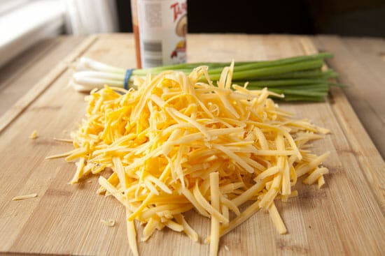 A good amount of cheese.