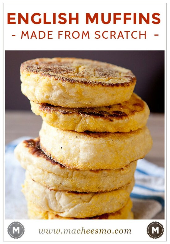 How to make authentic Homemade English Muffins with lots of nooks and crannies for melted butter or honey!